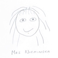Drawing of Head Teacher, Mrs Nieminska,