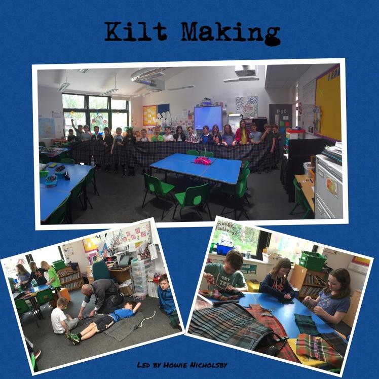 Collage of Kilt Making photos