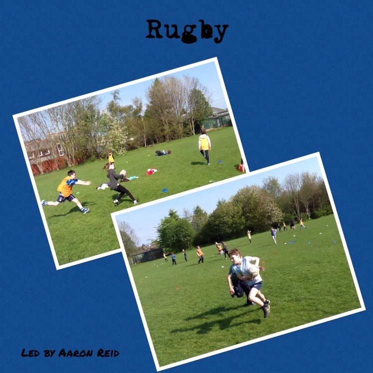 Collage of Rugby photos