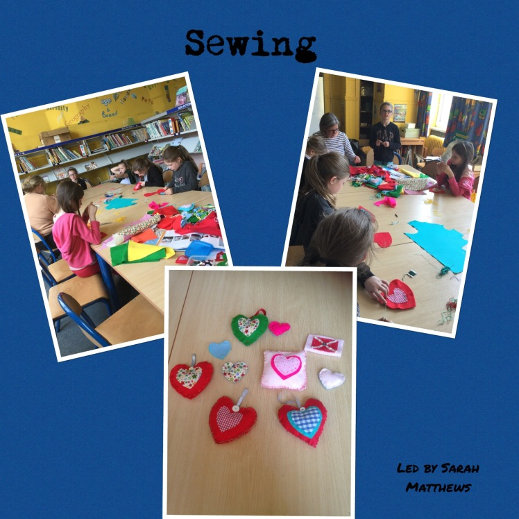 Collage of Sewing photos