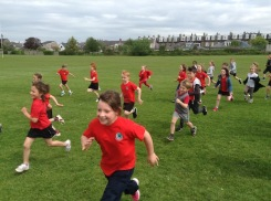 Afton pupils running in mini marathon