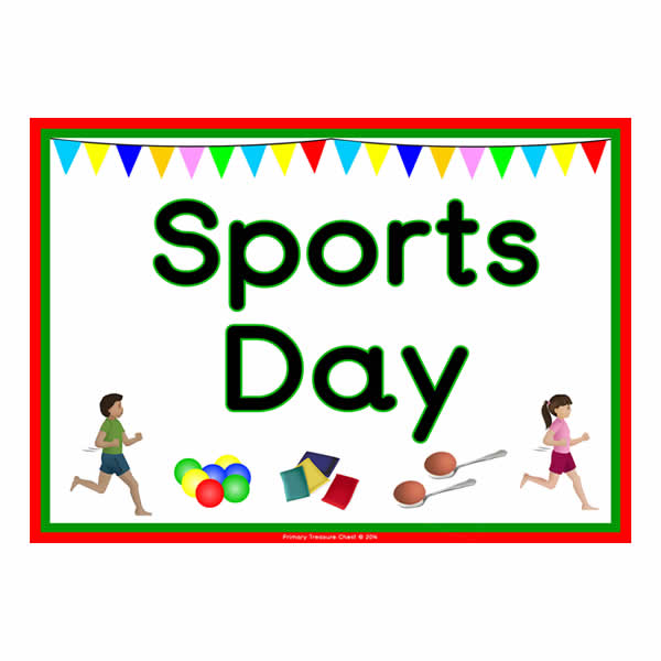 sports poster clipart annual primary clip competition cliparts nursery happy sport event posters today wardie