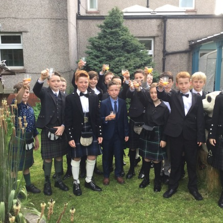 Pupils pictured in Central Garden