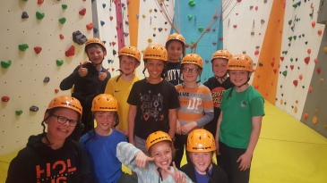 Group picture of P6 Climbing group